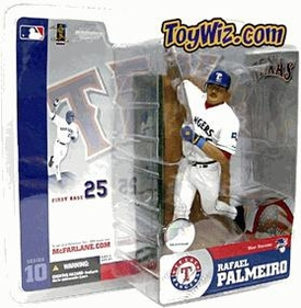 McFarlane Toys MLB Sports Picks Series 10 Action Figure Rafael Palmeiro (Texas Rangers) White Retro Jersey Variant