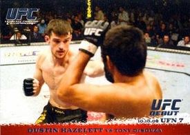 Topps UFC Ultimate Fighting Championship Single Card Round 1 Dustin Hazelett #55