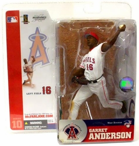 McFarlane Toys MLB Sports Picks Series 10 Action Figure Garret Anderson (Anaheim Angels) White Jersey Variant