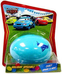 Disney / Pixar CARS Movie 1:55 Die Cast Car Holiday Special Easter Egg Chief Spare O Mint