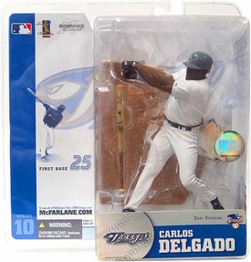 McFarlane Toys MLB Sports Picks Series 10 Action Figure Carlos Delgado (Toronto Blue Jays) White Jersey Variant