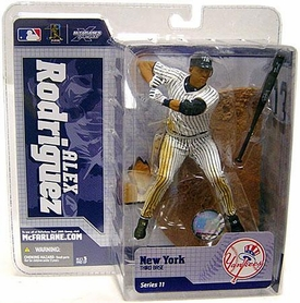 McFarlane Toys MLB Sports Picks Series 11 Action Figure Alex Rodriguez (New York Yankees) White Jersey