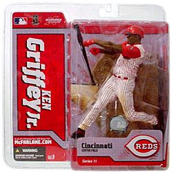 McFarlane Toys MLB Sports Picks Series 11 Action Figure Ken Griffey Jr. (Cincinnati Reds) White Jersey