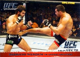 Topps UFC Ultimate Fighting Championship Single Card Round 1 Fabricio Werdum #63