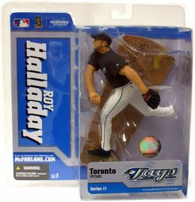 McFarlane Toys MLB Sports Picks Series 11 Action Figure Roy Halladay (Toronto Blue Jays) Black Jersey
