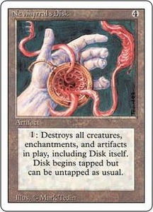 Magic the Gathering Revised Edition Single Card Rare Nevinyrral's Disk Slightly Played