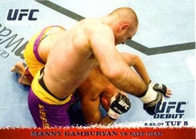 Topps UFC Ultimate Fighting Championship Single Card Round 1 Manny Gamburyan #67