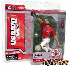 McFarlane Toys MLB Sports Picks Series 11 Action Figure Johnny Damon (Boston Red Sox) Red Jersey