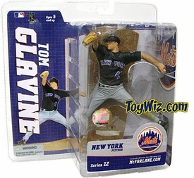 McFarlane Toys MLB Sports Picks Series 12 Action Figure Tom Glavine (New York Mets) Black Jersey