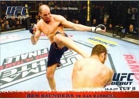 Topps UFC Ultimate Fighting Championship Single Card Round 1 Ben Saunders #73