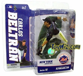 McFarlane Toys MLB Sports Picks Series 12 Action Figure Carlos Beltran (New York Mets) Black Jersey