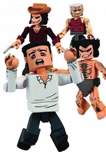 Marvel MiniMates Art Asylum Mini Figure 4-Pack Wolverine Through the Ages