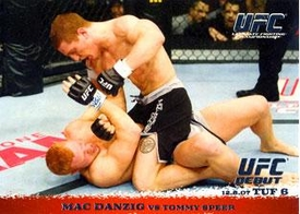 Topps UFC Ultimate Fighting Championship Single Card Round 1 Mac Danzig #75