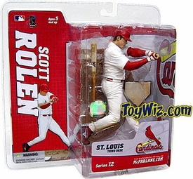 McFarlane Toys MLB Sports Picks Series 12 Action Figure Scott Rolen (St. Louis Cardinals) White Jersey BLOWOUT SALE!
