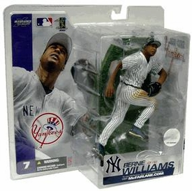 McFarlane Toys MLB Sports Picks Series 7 Action Figure Bernie Williams (New York Yankees) Pinstripes Jersey Variant