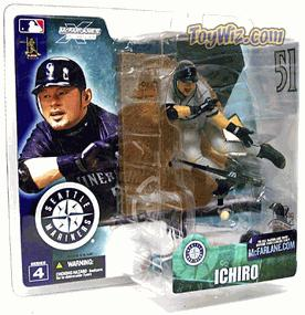 McFarlane Toys MLB Sports Picks Series 4 Action Figure Ichiro Suzuki (Seattle Mariners) Gray Jersey Variant ** Slightly Yellowed Packaging **