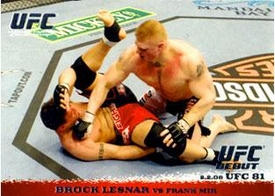 Topps UFC Ultimate Fighting Championship Single Card Round 1 Brock Lesnar #81