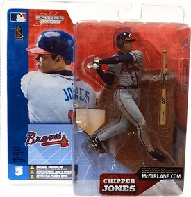 McFarlane Toys MLB Sports Picks Series 3 Action Figure Chipper Jones (Atlanta Braves) Gray Jersey
