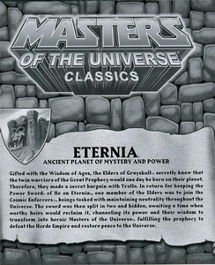 He-Man Masters of the Universe Classics Exclusive Map of Eternia