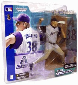 McFarlane Toys MLB Sports Picks Series 3 Action Figure Curt Schilling (Arizona Diamondbacks) Gray Jersey Variant