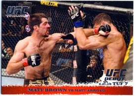 Topps UFC Ultimate Fighting Championship Single Card Round 1 Matt Brown #86