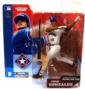 McFarlane Toys MLB Sports Picks Series 3 Action Figure Juan Gonzalez (Texas Rangers) White Jersey Variant