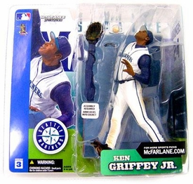 McFarlane Toys MLB Sports Picks Series 3 Action Figure Ken Griffey Jr. (Seattle Mariners) White Retro Jersey Variant