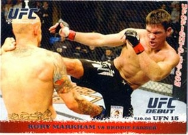 Topps UFC Ultimate Fighting Championship Single Card Round 1 Rory Markham #90