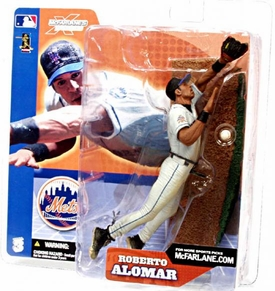 McFarlane Toys MLB Sports Picks Series 3 Action Figure Roberto Alomar (New York Mets) White Jersey Variant