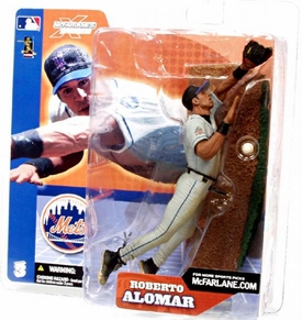 McFarlane Toys MLB Sports Picks Series 3 Action Figure Roberto Alomar (New York Mets) Grey Jersey