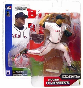 McFarlane Toys MLB Sports Picks Series 3 Action Figure Roger Clemens (Boston Red Sox) White Jersey