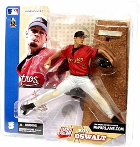 McFarlane Toys MLB Sports Picks Series 3 Action Figure Roy Oswalt (Houston Astros) White Pants Damaged Package, Mint Contents!