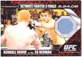 Topps UFC Ultimate Fighting Championship Single Card Round 1 Fight Mat Relic Card Kendall Grove Vs. Ed Herman #DM-GH