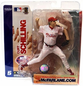 McFarlane Toys MLB Sports Picks Series 5 Action Figure Curt Schilling (Philadelphia Phillies) White Jersey Variant