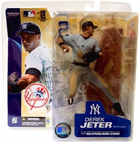 McFarlane Toys MLB Sports Picks Series 5 Action Figure Derek Jeter (New York Yankees) Gray Jersey