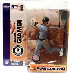 McFarlane Toys MLB Sports Picks Series 5 Action Figure Jason Giambi (Oakland Athletics) Gray A's Jersey Variant