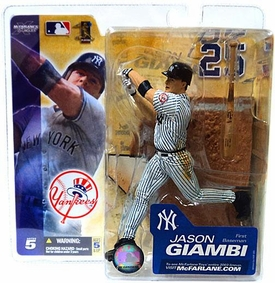 McFarlane Toys MLB Sports Picks Series 5 Action Figure Jason Giambi (New York Yankees) White Jersey