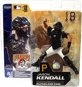 McFarlane Toys MLB Sports Picks Series 5 Action Figure Jason Kendall (Pittsburgh Pirates) White Jersey