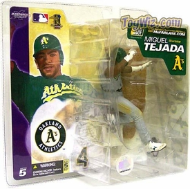 McFarlane Toys MLB Sports Picks Series 5 Action Figure Miguel Tejada (Oakland Athletics) Gray Jersey & Pants Variant
