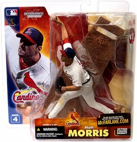 McFarlane Toys MLB Sports Picks Series 4 Action Figure Matt Morris (St. Louis Cardinals) White Jersey