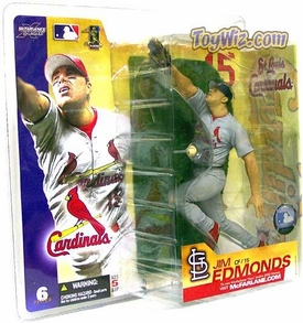 McFarlane Toys MLB Sports Picks Series 6 Action Figure Jim Edmonds (St. Louis Cardinals) Gray Jersey Variant