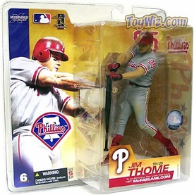 McFarlane Toys MLB Sports Picks Series 6 Action Figure Jim Thome (Philadelphia Phillies) Gray Jersey