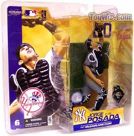McFarlane Toys MLB Sports Picks Series 6 Action Figure Jorge Posada (New York Yankees) Gray Jersey BLOWOUT SALE!