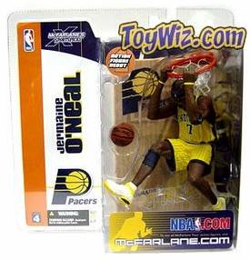 McFarlane Toys NBA Sports Picks Series 4 Action Figure Jermaine O'Neal (Indiana Pacers) Yellow Jersey