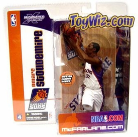 McFarlane Toys NBA Sports Picks Series 4 Action Figure Amare Stoudemire (Phoenix Suns) White Jersey