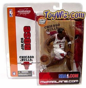 McFarlane Toys NBA Sports Picks Series 4 Action Figure Jalen Rose (Chicago Bulls) White Jersey Variant
