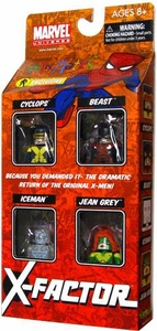 Marvel Minimates Exclusive Mini Figure 4-Pack X-Factor [Cyclops, Jean Grey, Iceman & Beast] Only 2,000 Made!
