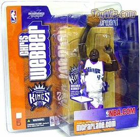 McFarlane Toys NBA Sports Picks Series 5 Action Figure Chris Webber (Sacramento Kings) White Jersey