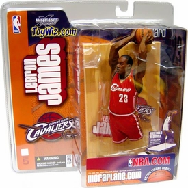 McFarlane Toys NBA Sports Picks Series 5 Action Figure LeBron James (Cleveland Cavaliers) Red Jersey Variant