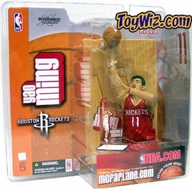 McFarlane Toys NBA Sports Picks Series 5 Action Figure Yao Ming (Houston Rockets) Red Jersey Variant